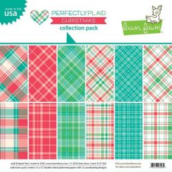 "Lawn Fawn Perfectly Plaid Christmas Paper Pack - 12"" X 12"""