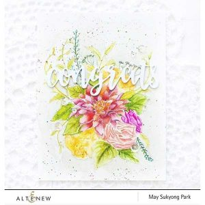 Altenew Blooming Bouquet Stamp Set class=