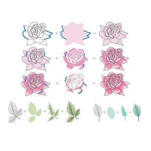 Altenew Bold Blossom Stamp Set class=