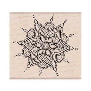 Hero Arts Henna Flower Pattern class=