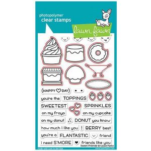 Lawn Fawn Sweet Friends Stamp Set class=