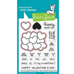 Lawn Fawn How You Bean? Conversation Heart Add-On Lawn Cuts class=