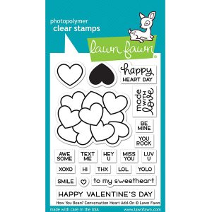 Lawn Fawn How You Bean? Conversation Heart Add-on Stamp Set