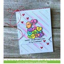 Lawn Fawn How You Bean? Conversation Heart Add-On Lawn Cuts
