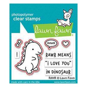 Lawn Fawn Rawr Stamp Set class=
