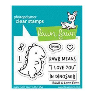 Lawn Fawn Rawr Stamp Set