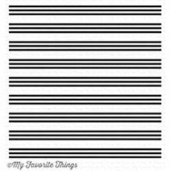 My Favorite Things Triple Stripe Background Stamp