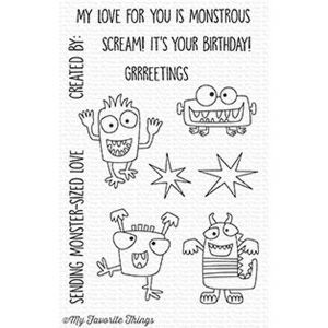 My Favorite Things Monster Sized Stamp Set