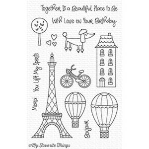 My Favorite Things In Paris Stamp Set