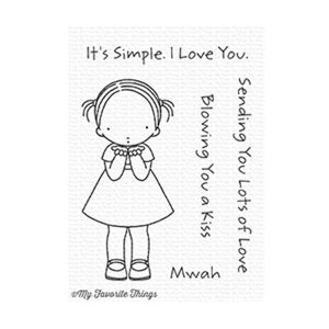 My Favortie Things Pure Innocence Blowing Kissing Stamp Set