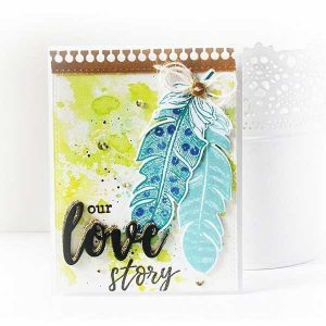 Altenew Golden Feather Stamp Set class=