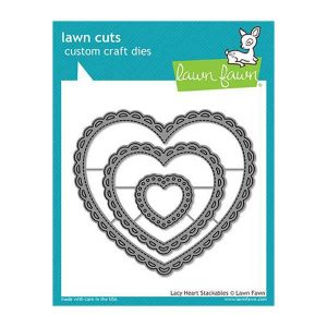 Lawn Fawn Lacy Heart Stackables Lawn Cuts