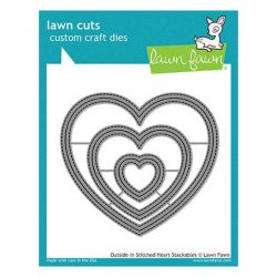 Lawn Fawn Outside In Stitched Heart Stackables Lawn Cuts