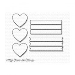 My Favorite Things Die-namics Hearts in a Row - Vertical