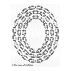 My Favorite Things Linked Chain Oval Frames Die-namics