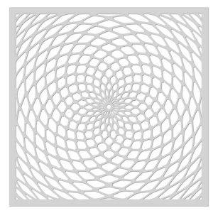 Hero Arts Spiral Stencil