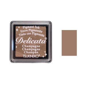 Delicata Small Pigment Inkpad - Champagne Shimmer class=