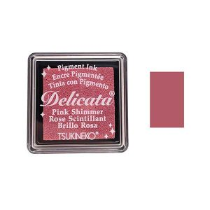 Delicata Small Pigment Inkpad - Pink Shimmer