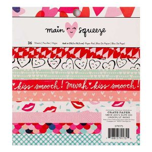 "Crate Paper Main Squeeze Paper Pad with Gold Foil - 6"" x 6"" class="