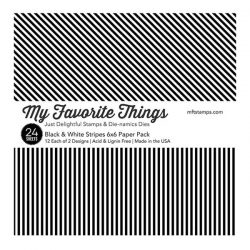 My Favorite Things Black & White Stripes Paper Pack