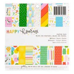 "Pebbles Happy Hooray Paper Pad - 6"" x 6"""