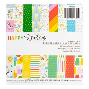 Pebbles Happy Hooray Paper Pad – 6″ x 6″