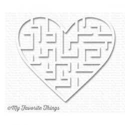 My Favorite Things Heart Maze Shapes - White