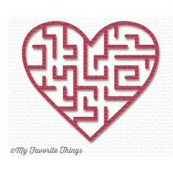 My Favorite Things Heart Maze Shapes - Wild Cherry