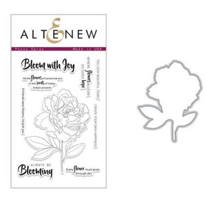 Altenew Peony Spray Stamp & Die Bundle