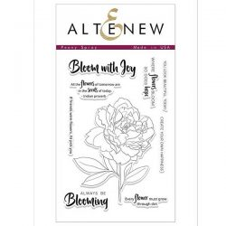 Altenew Peony Spray Stamp Set