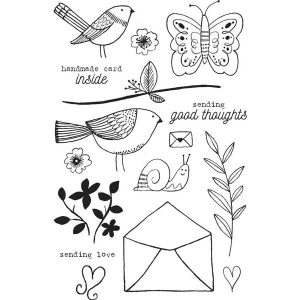 Flora & Fauna Aviary Love Stamp Set