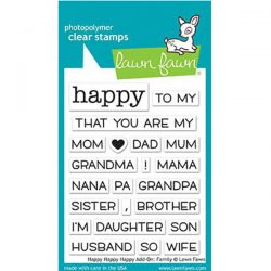 Lawn Fawn Happy Happy Happy Add-on: Family Stamp Set