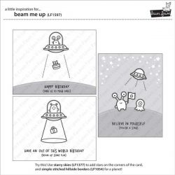 Lawn Fawn Beam Me Up Stamp Set