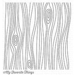 My Favorite Things Whimsical Woodgrain Background Stamp