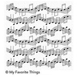 My Favorite Things BG Musical Notes Background Stamp