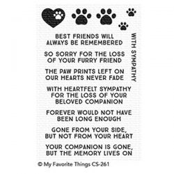 My Favorite Things Critter Condolences Stamp Set