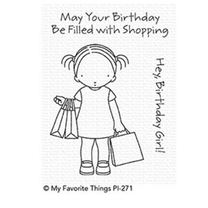 My Favorite Things Pure Innocence Birthday Girl Stamp Set