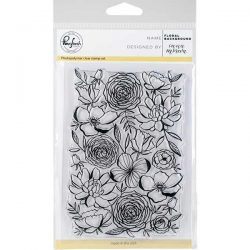 Pinkfresh Studio Floral Background Stamp