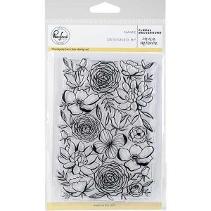 Pinkfresh Studio Floral Background Stamp class=