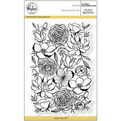 Pinkfresh Studio Floral Background Stamp