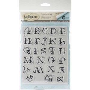 Spellbinders French Alphabet Stamp Set class=