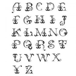 Spellbinders French Alphabet Stamp Set