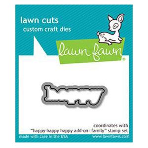 Lawn Fawn Happy Happy Happy Add-on: Family Lawn Cuts
