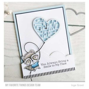 My Favorite Things Stitched Heart Peek-a-Boo Window Die-namics class=