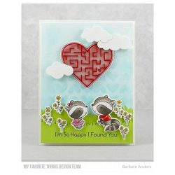 My Favorite Things Stitched Heart Peek-a-Boo Window Die-namics