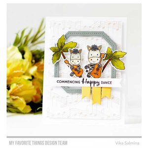 My Favorite Things Single Stitch Line Tag-Corner Square Frames Die-namics class=