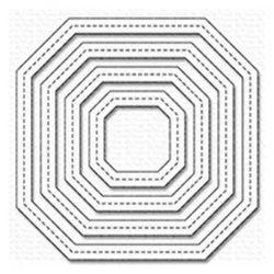 My Favorite Things Single Stitch Line Tag-Corner Square Frames Die-namics