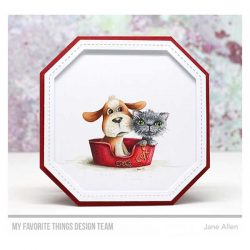 My Favorite Things Single Stitch Line Tag-Corner Square Frames Die-namics