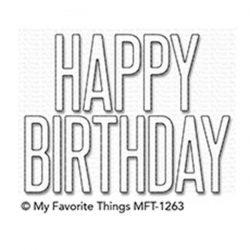 My Favorite Things Big Birthday Die-namics