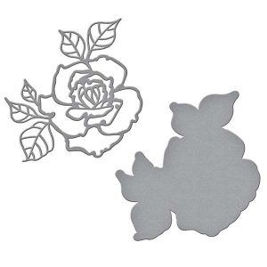 Spellbinders Shapeabilities Rosy Summer Flowers Etched Dies